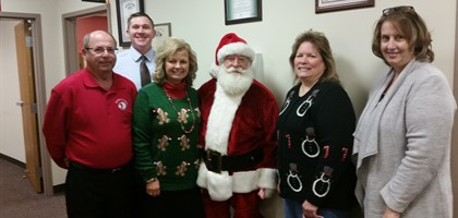 Santa visits Central Office